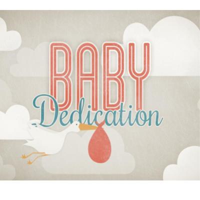 Baby dedication: stork